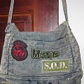DRI Misfits SOD Patches on my old high school Denim Purse 1988