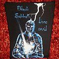 Black Sabbath Live Evil Backpatch