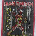 Iron Maiden Somewhere in Time Red Border Patch