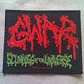 gwar scumdogs of the universe, slave pit ind. Patch