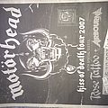 motorhead tour flyer Melbourne 2007  Other Collectable