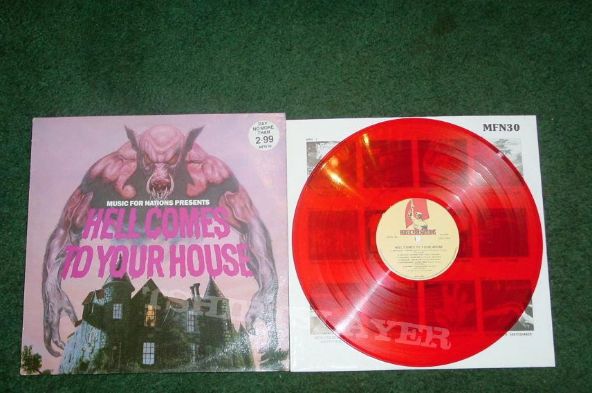Hell Comes To Your House compilation on red vinyl 1984