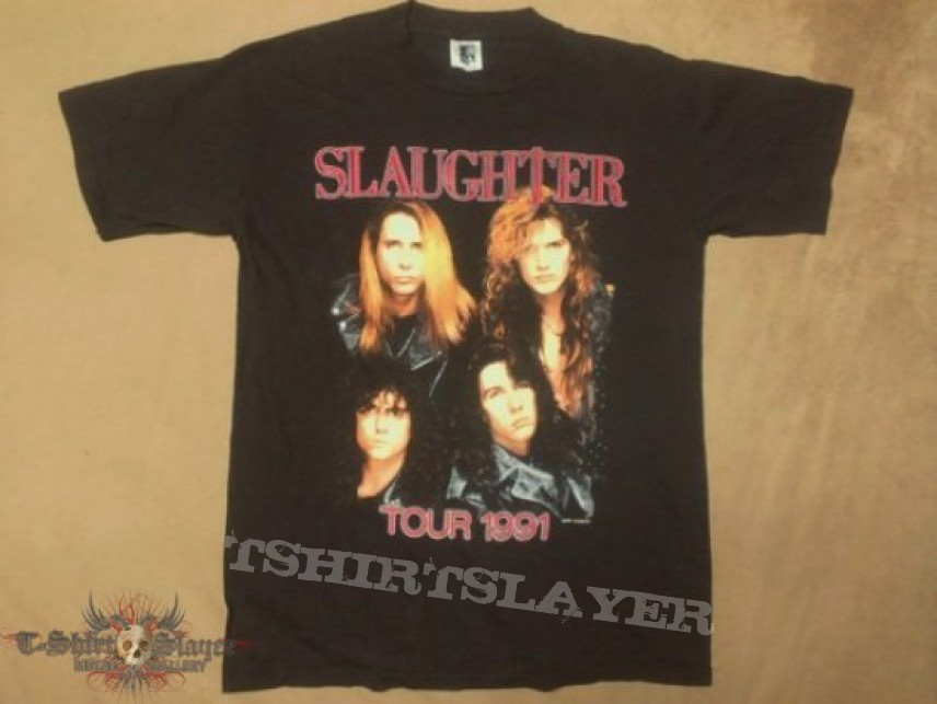 Slaughter 1991 tour tshirt