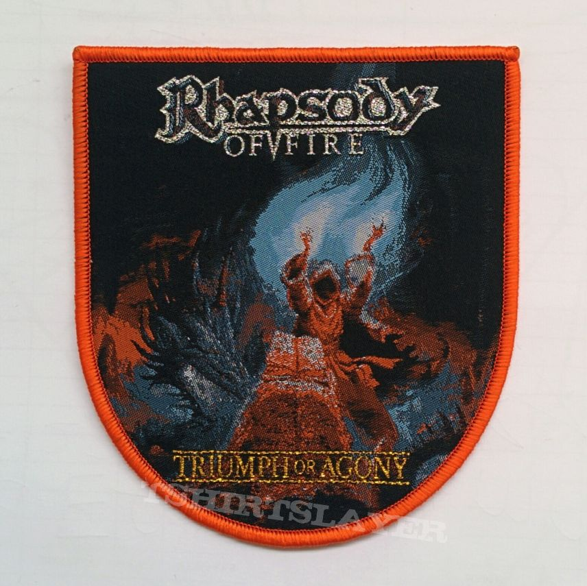 """RHAPSODY OF FIRE """"Triumph or Agung"""" Shield Woven Patches"""