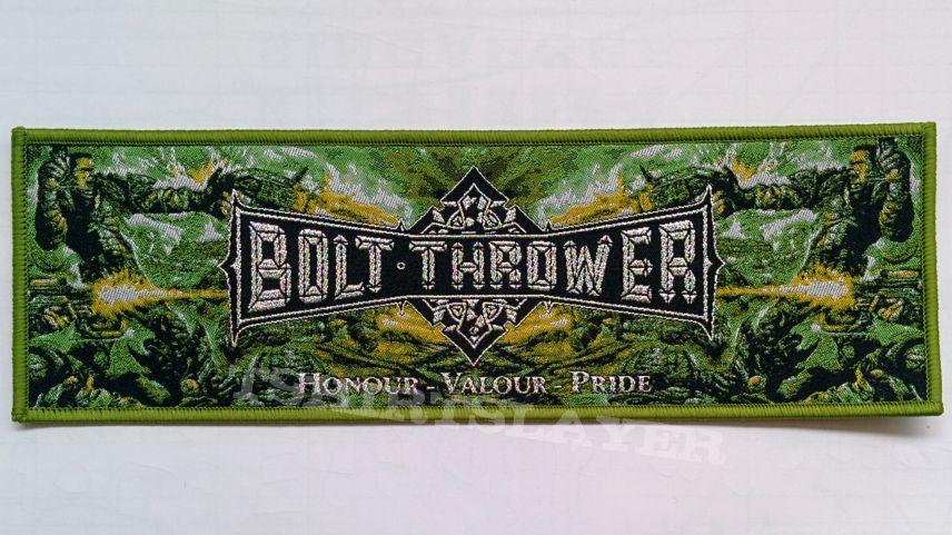 "BOLT THROWER ""Honour Valour Pride"" Stripe Woven Patch"