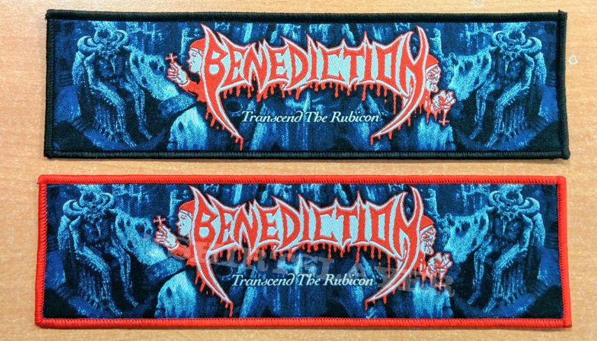 "BENEDICTION ""Transcend The Rubicon"" Stripe Woven Patch"