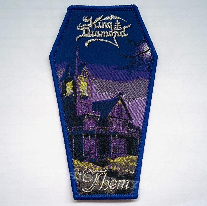 "KING DIAMOND ""Them"" Coffin Woven Patch"
