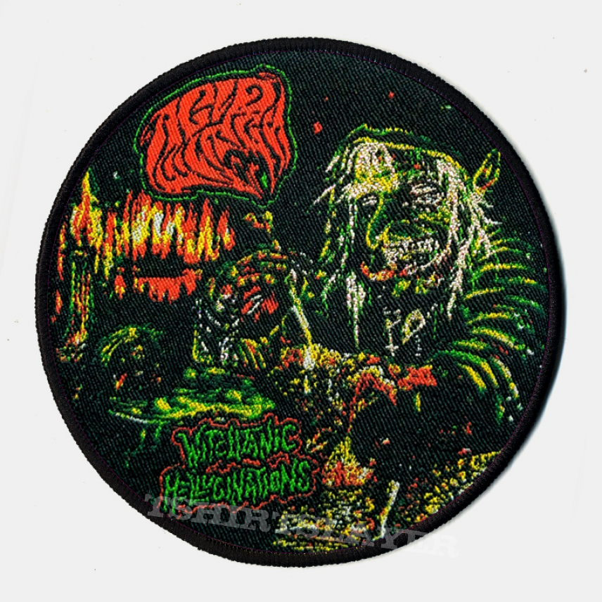 "ACID WITCH ""Witchtanic Hellucinations"" Round Woven Patch"