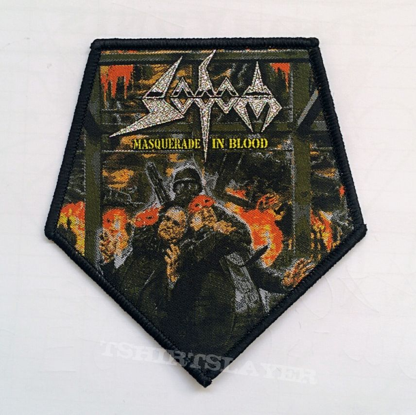 """SODOM """"Masquerade In Blood"""" Woven Patch"""