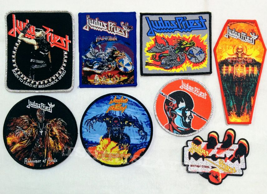 Various Woven Patches and Metal Pins Badge