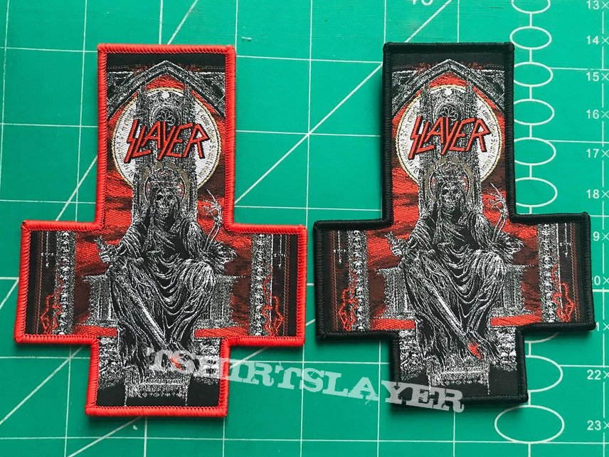SLAYER Inverted Cross Shape Woven Patch
