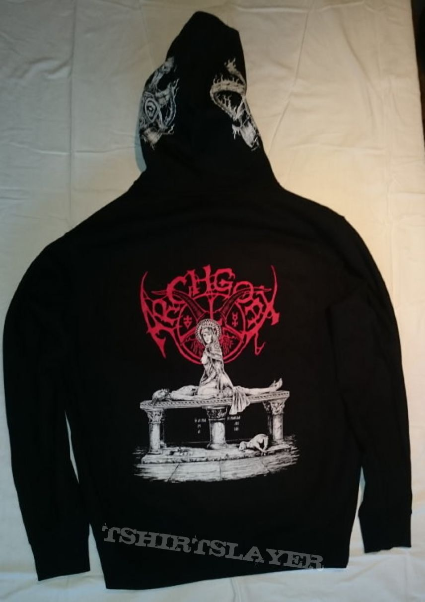 "Archgoat ""Heavenly Vulva (Christ's Last Rites)"" Zip-Up Hooded Sweatshirt"