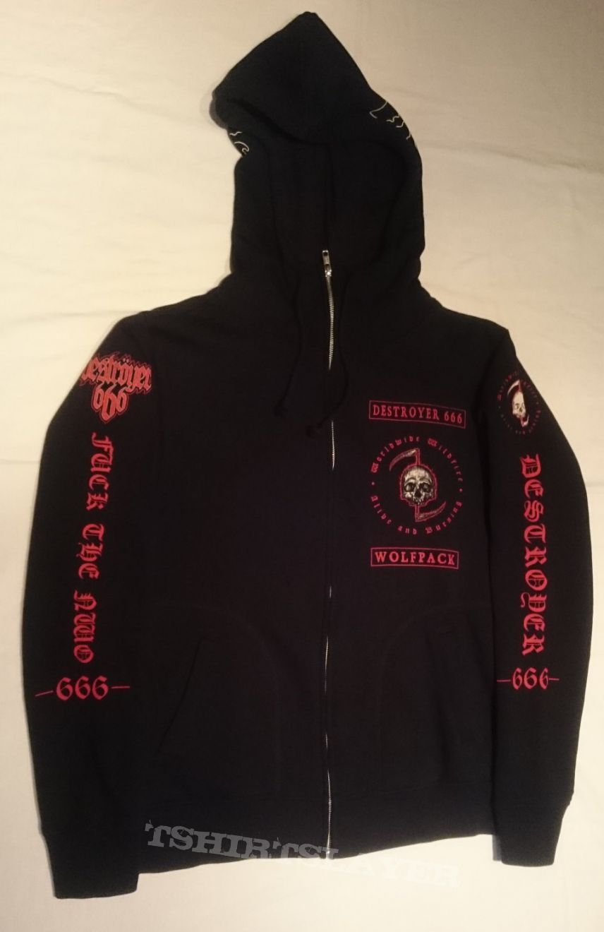 "Deströyer 666 ""Worldwide Wildfire"" Tour Zip-Up Hooded Sweatshirt"
