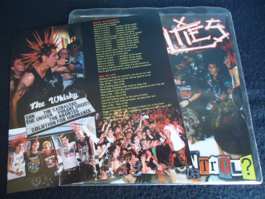 The Casualties - Who's in Controle 7'inch singel (punk)