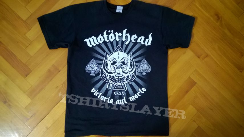 mot rhead 40th anniversary tour t shirt tshirtslayer. Black Bedroom Furniture Sets. Home Design Ideas