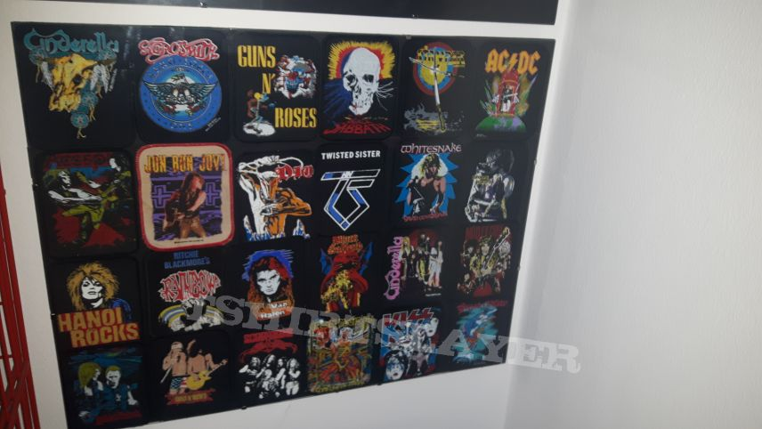 patches on the wall