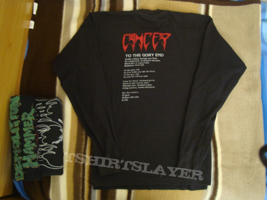 TShirt or Longsleeve - Cancer - To the Gory End Longsleeve