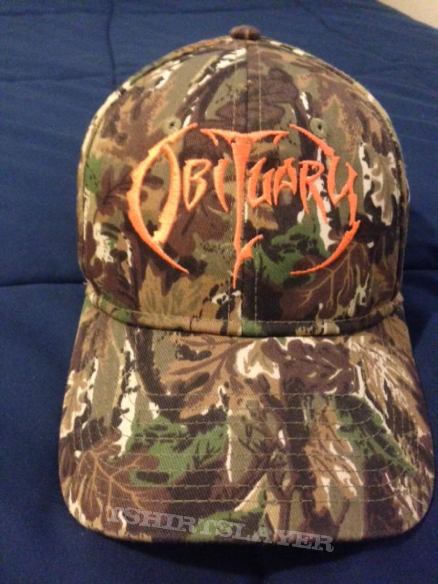 OBITUARY camo baseball cap hat NEW embroidered logo death metal