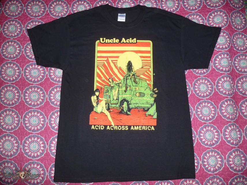 """Uncle Acid & The Deadbeats """"Acid Across America"""" 2014 Tour T-Shirt"""