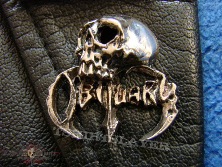 """Other Collectable - OBITUARY """"Skull"""" Pin Badge"""