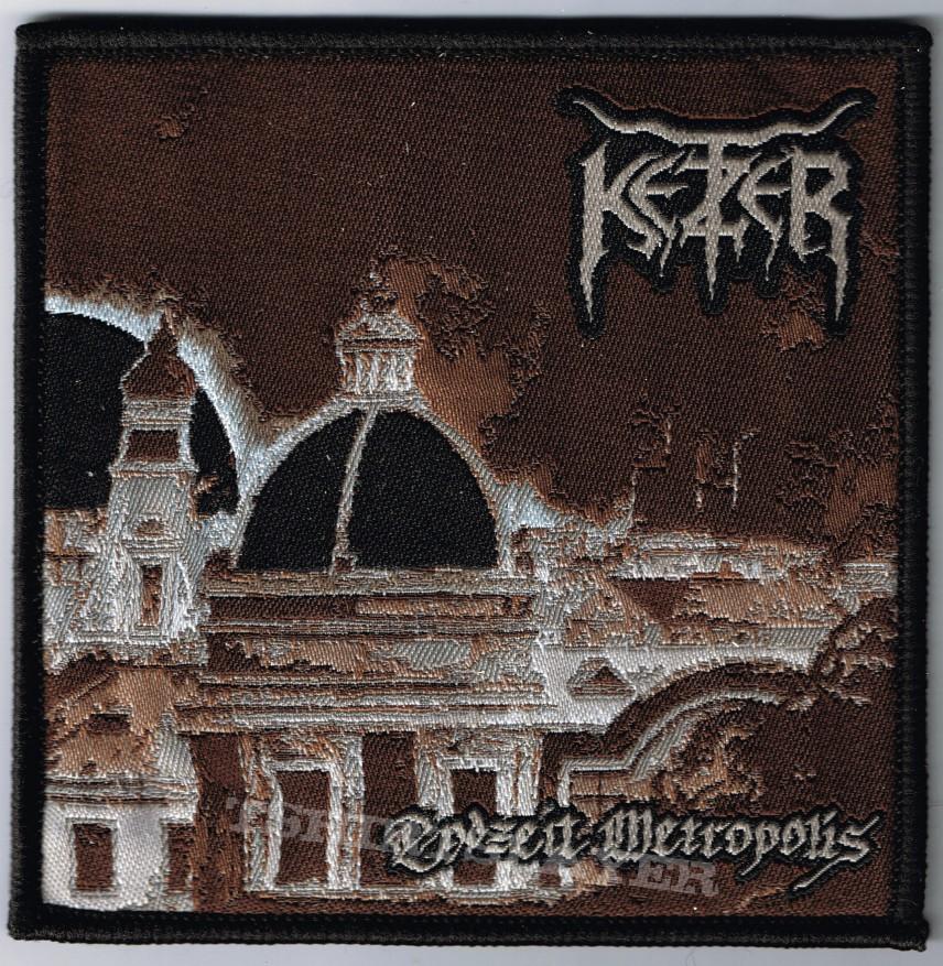 """Patch - KETZER """"Endzeit Metropolis"""" official woven Patch (square shape)"""