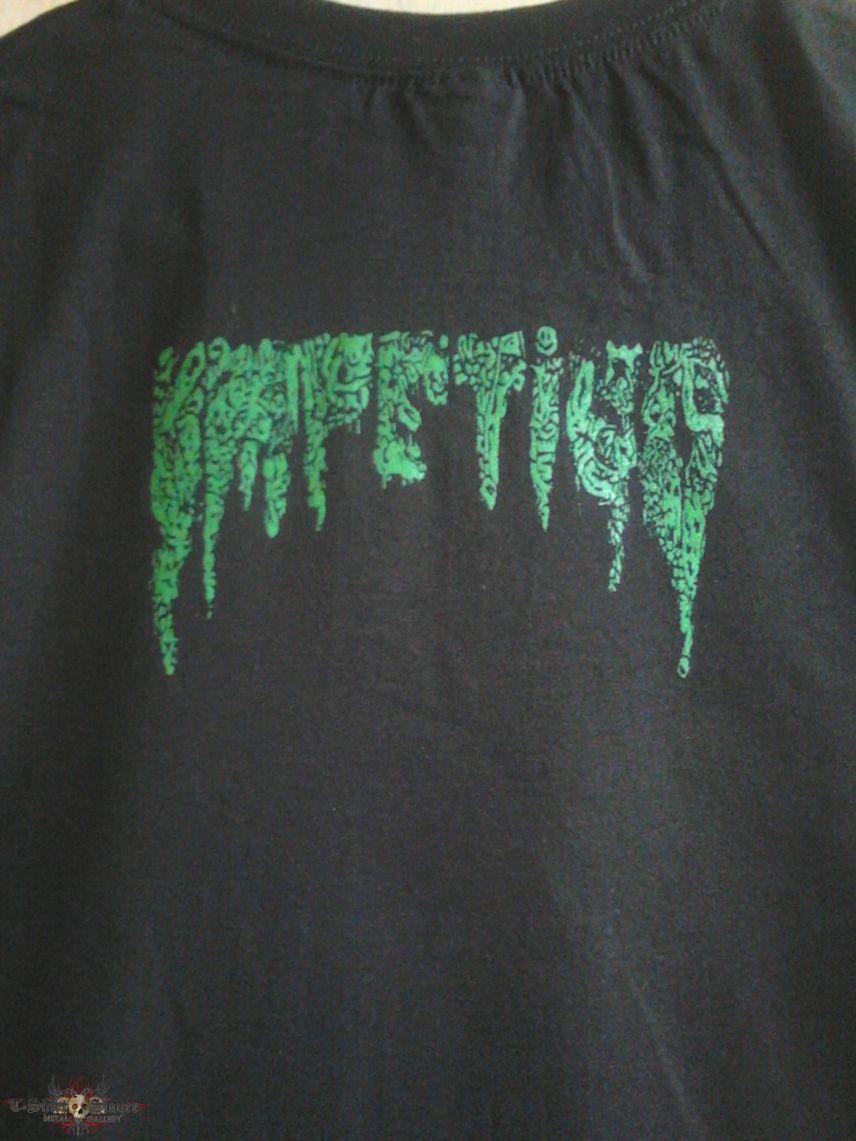 """Impetigo """"Defiling the Stage"""" T-shirt."""