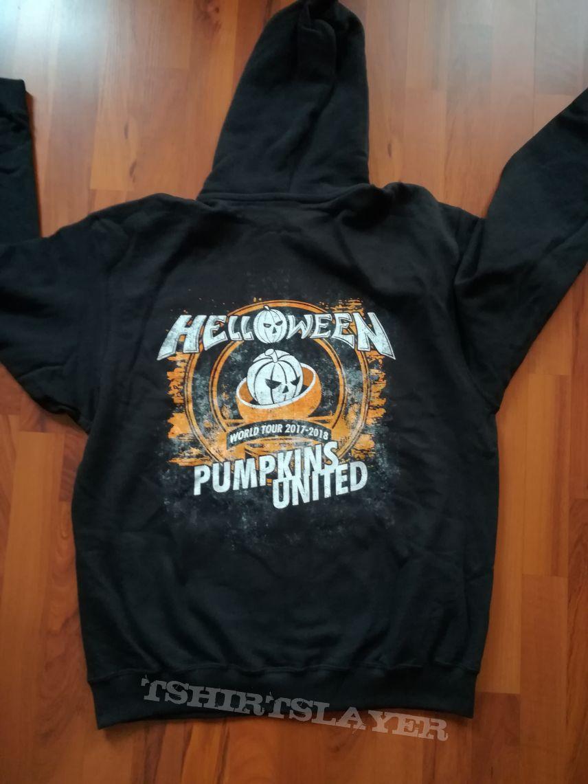 7321e109 Helloween - Pumpkins United Zip Hoodie | TShirtSlayer TShirt and ...