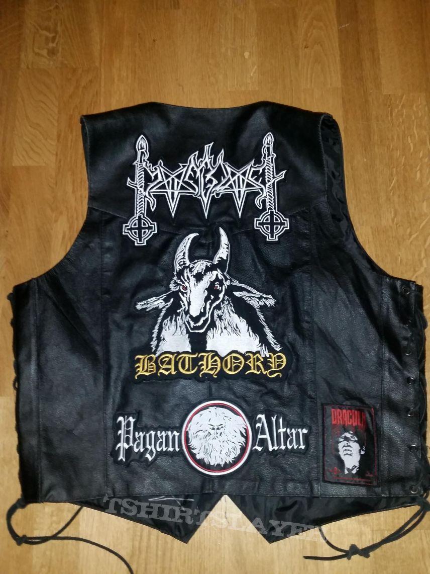 Black Leather Metal Armor