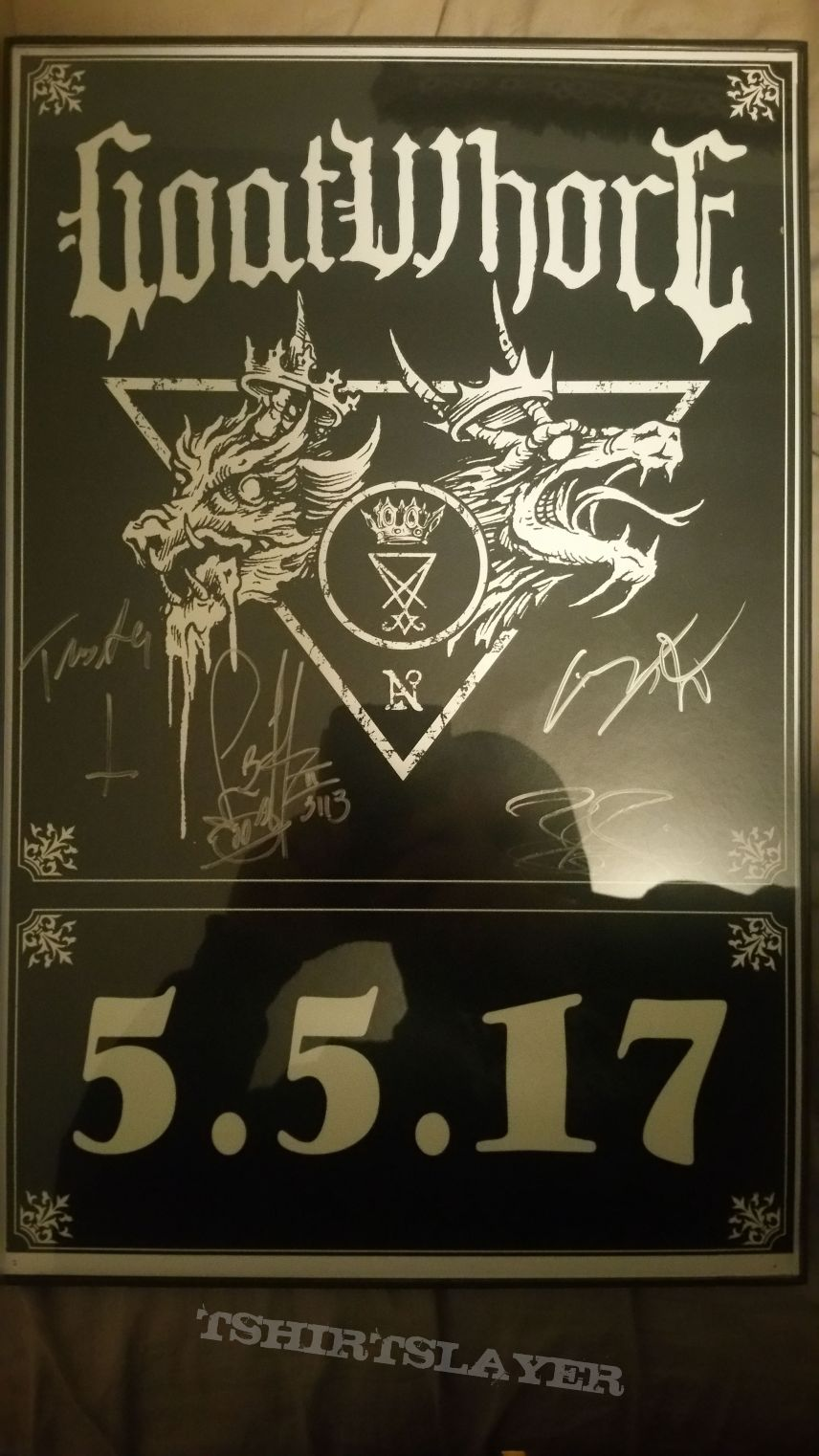 Goatwhore Signed show poster