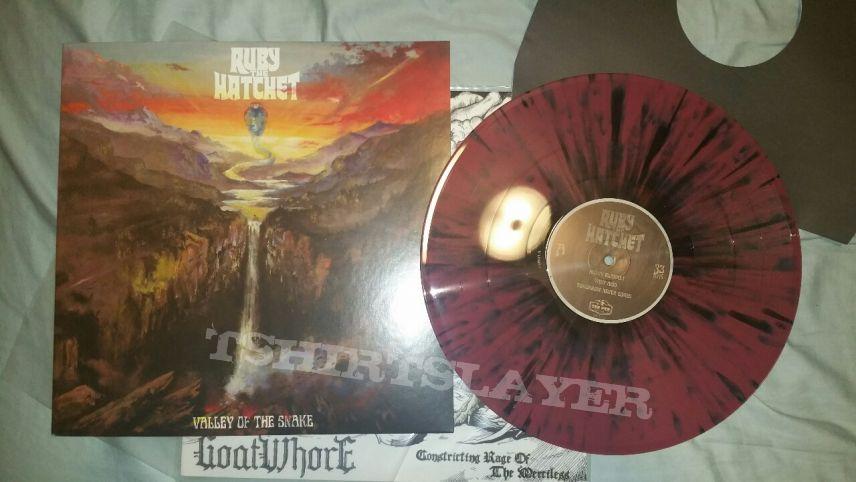 Ruby the Hatchet Valley of the Snake pink and black splatter vinyl