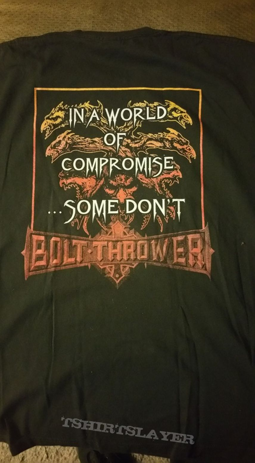 Bolt Thrower carved in stone sleeveless shirt