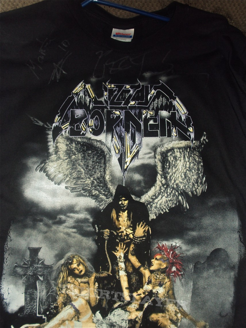 lizzy borden signed appointment with death shirt