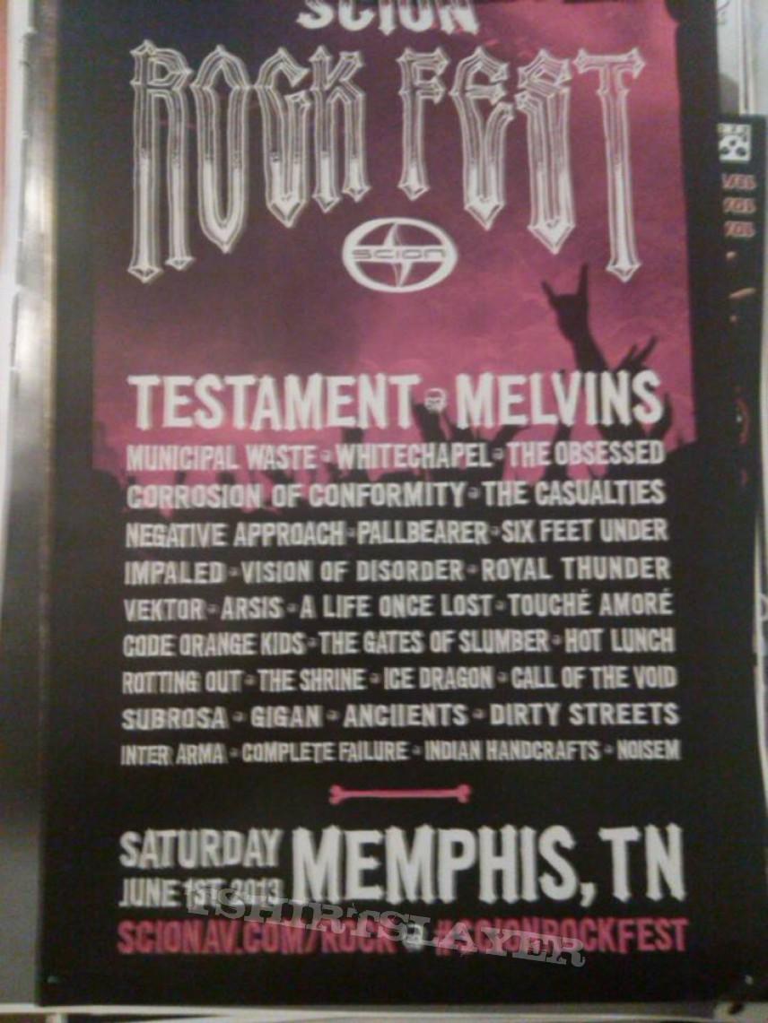 scion rock fest poster