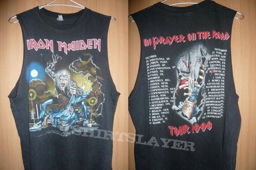 No Prayer On The Road Iron Maiden Men/'s Tee