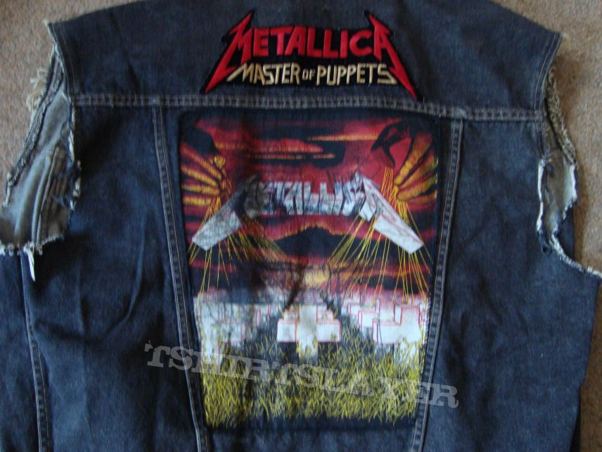 Metallica Kutte Battle Jacket Signed By The Band With