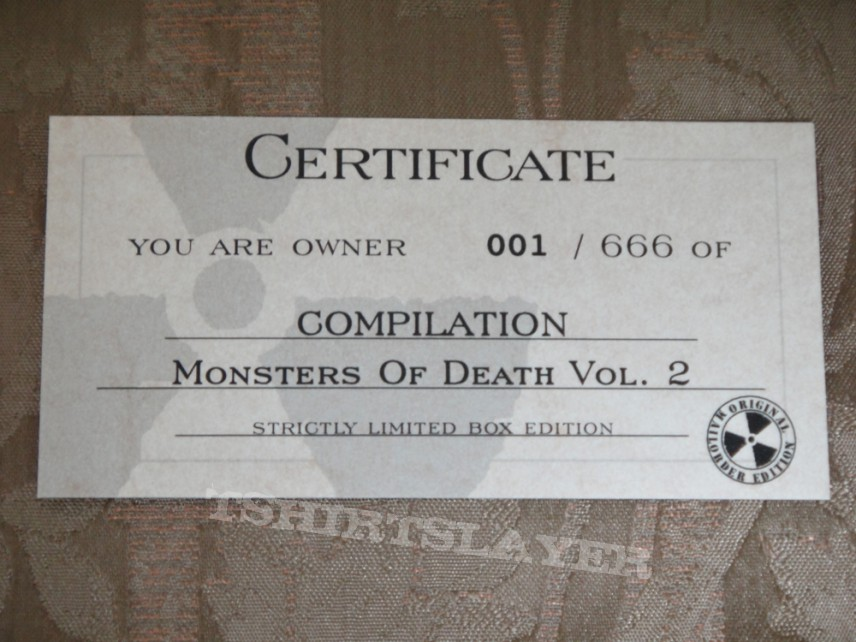 Monsters Of Death DVD Vol.2 Special edition #001/666