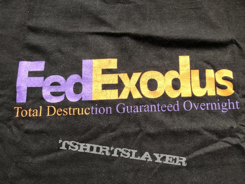 Exodus FedExodus Total Destruction Overnight 2002 Tour Shirt