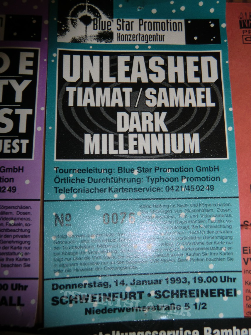 Unleashed/Tiamat/Samael/Dark Millenium