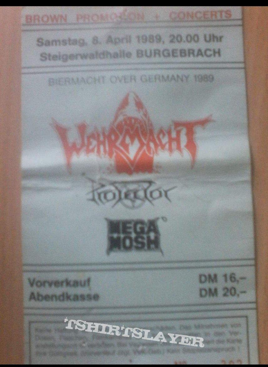 Wehrmacht - konzert ticket