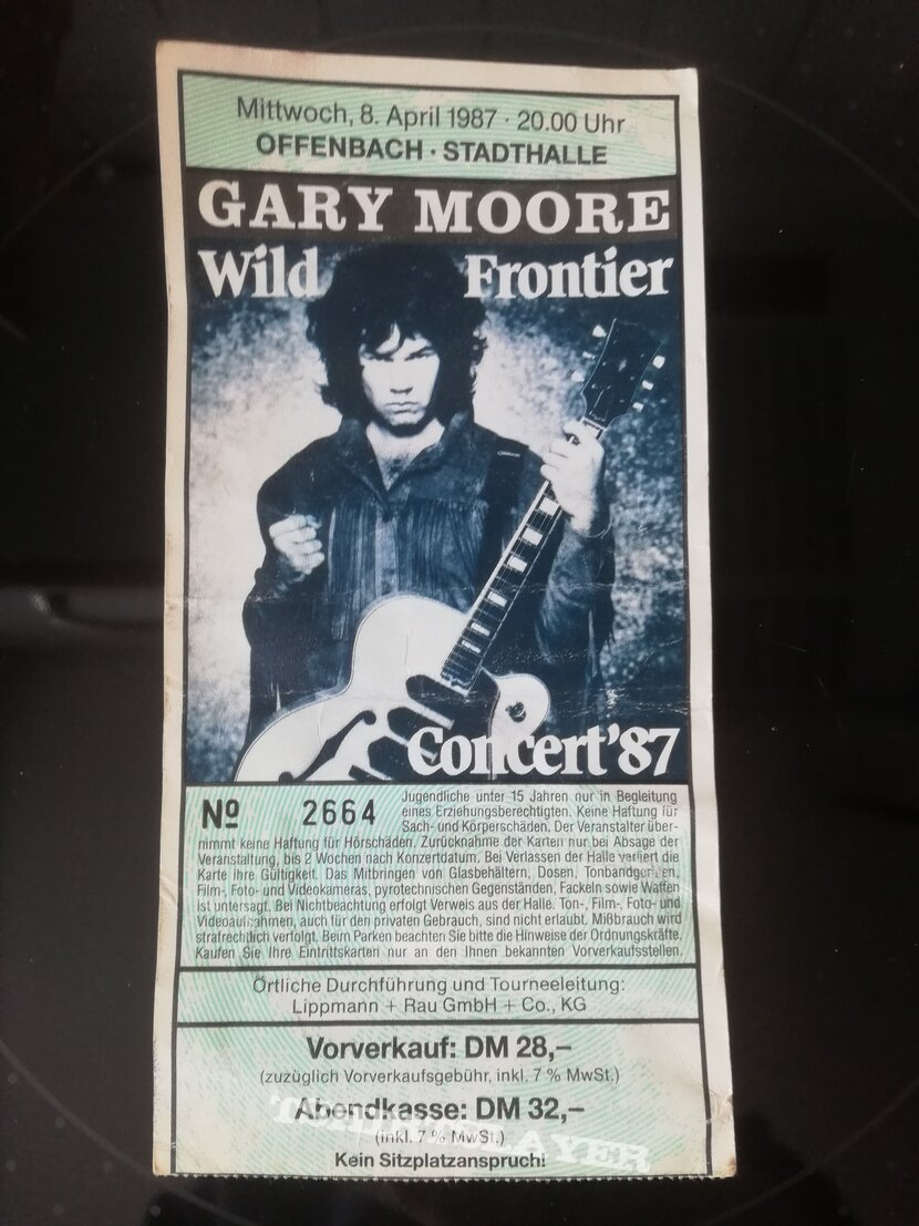 Gary Moore - Tourticket