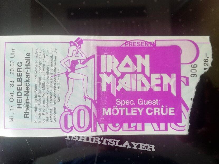Iron Maiden - world piece tour 83 ticket