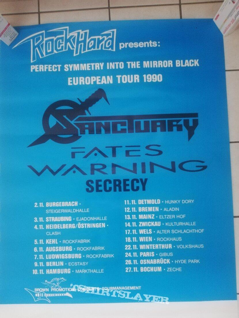 Sanctuary - Tourposter and -ticket 1990