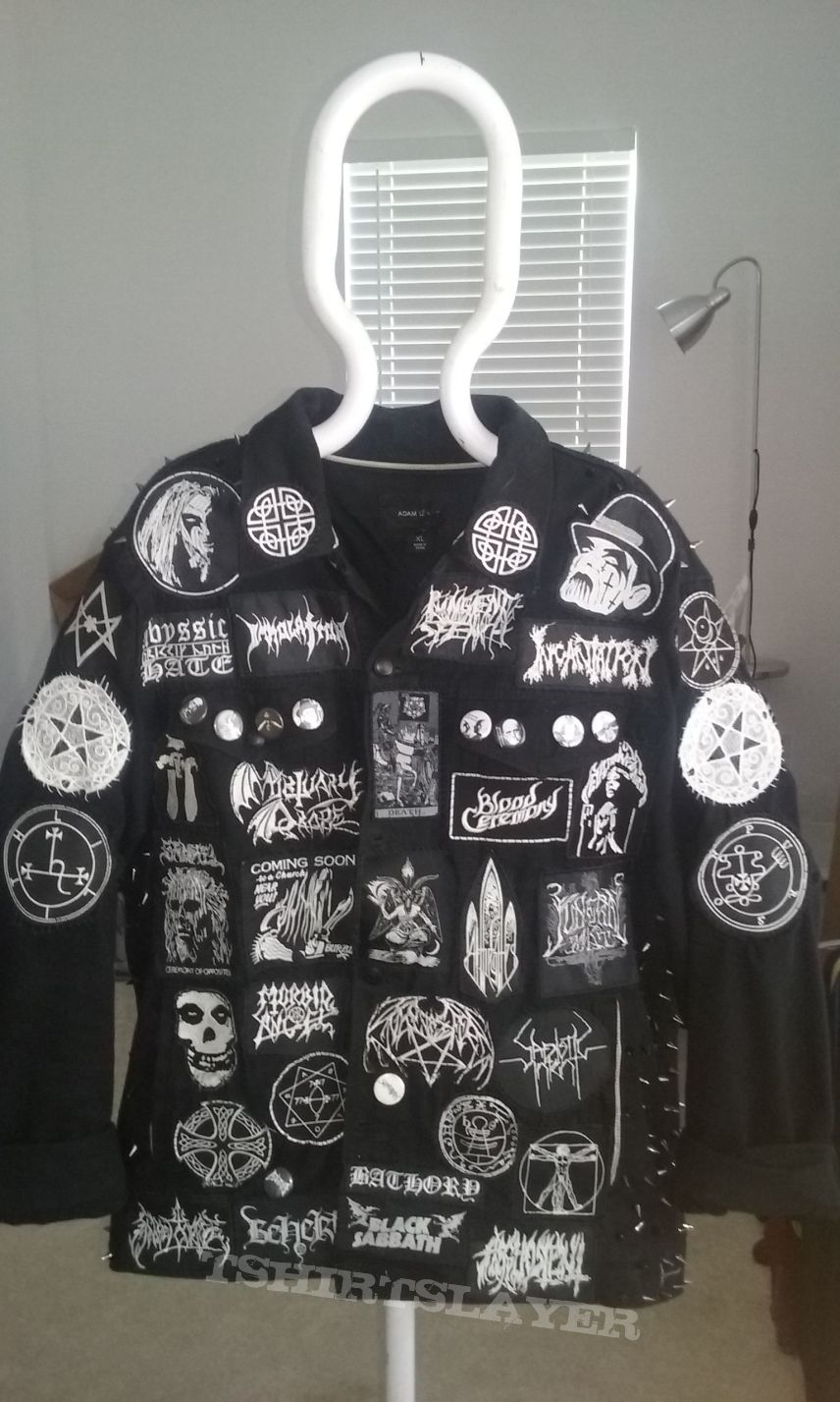 Finished Black and White Battle Jacket