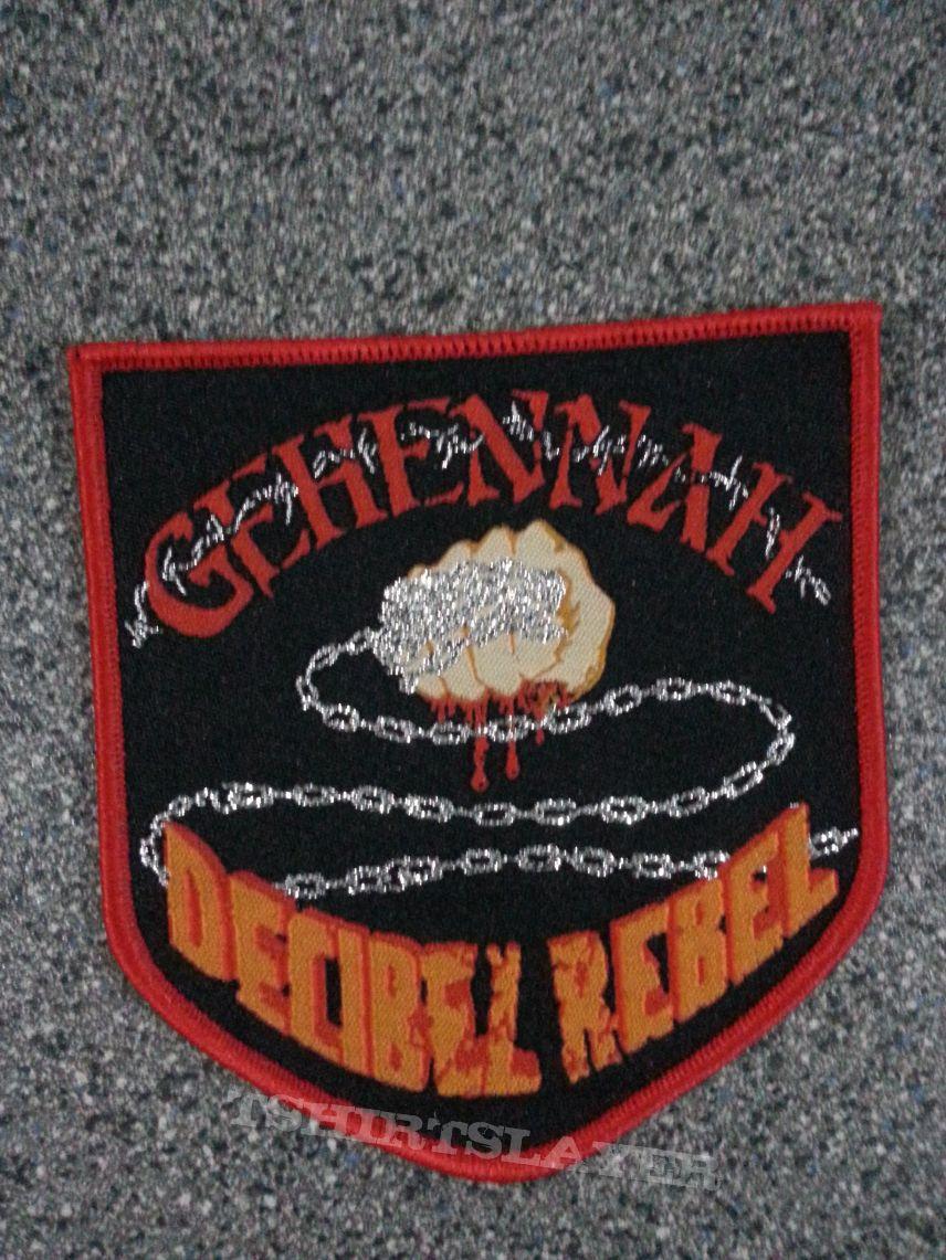 Gehennah Decibel Rebel vintage patch