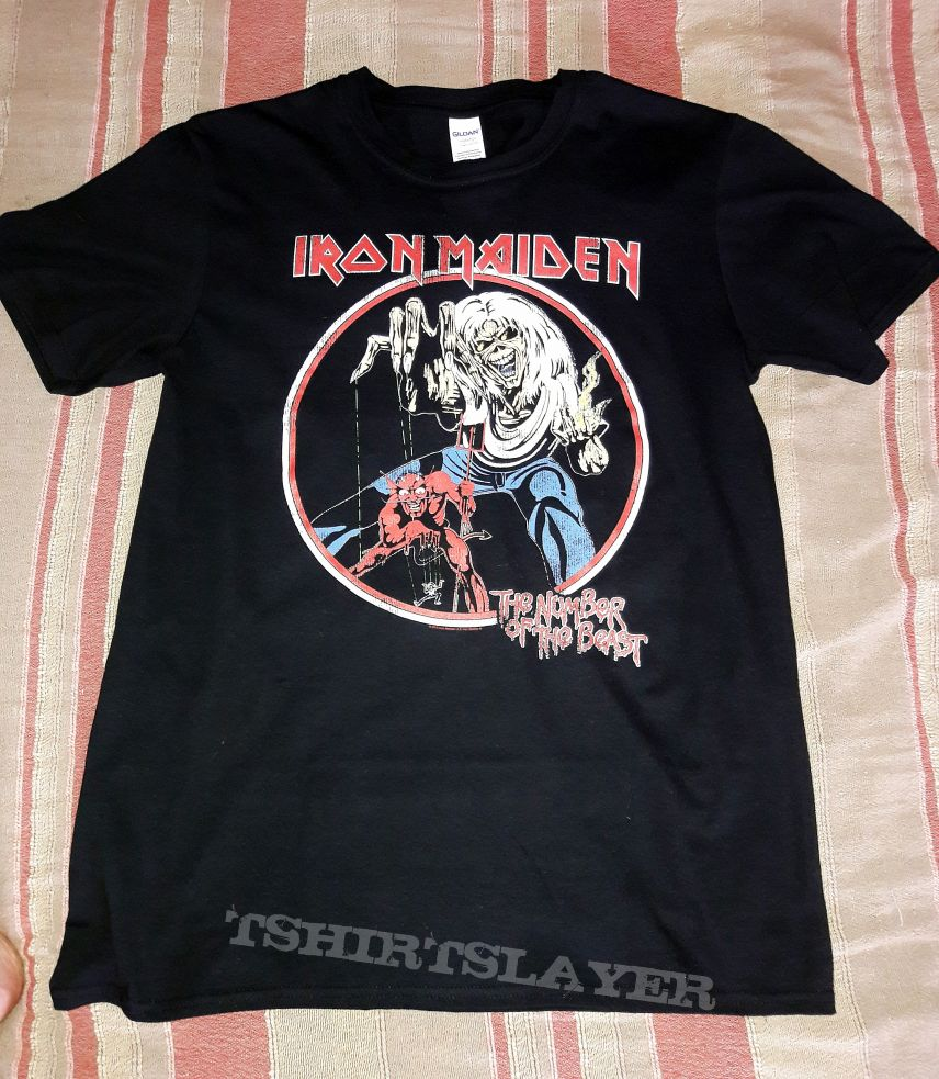 1506f00b Iron Maiden - The Number of the Beast circle | TShirtSlayer TShirt ...
