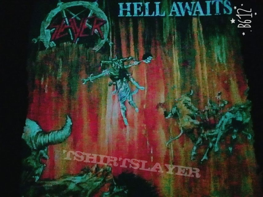 t-shirt Slayer - Hell awaits