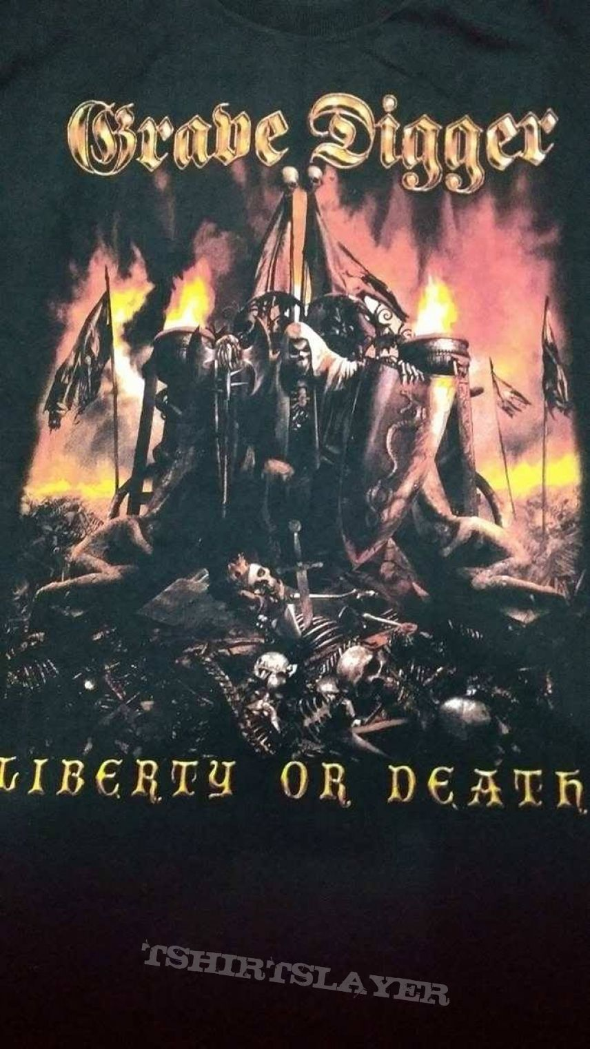 t-shirt grave digger ´´liberty or death``