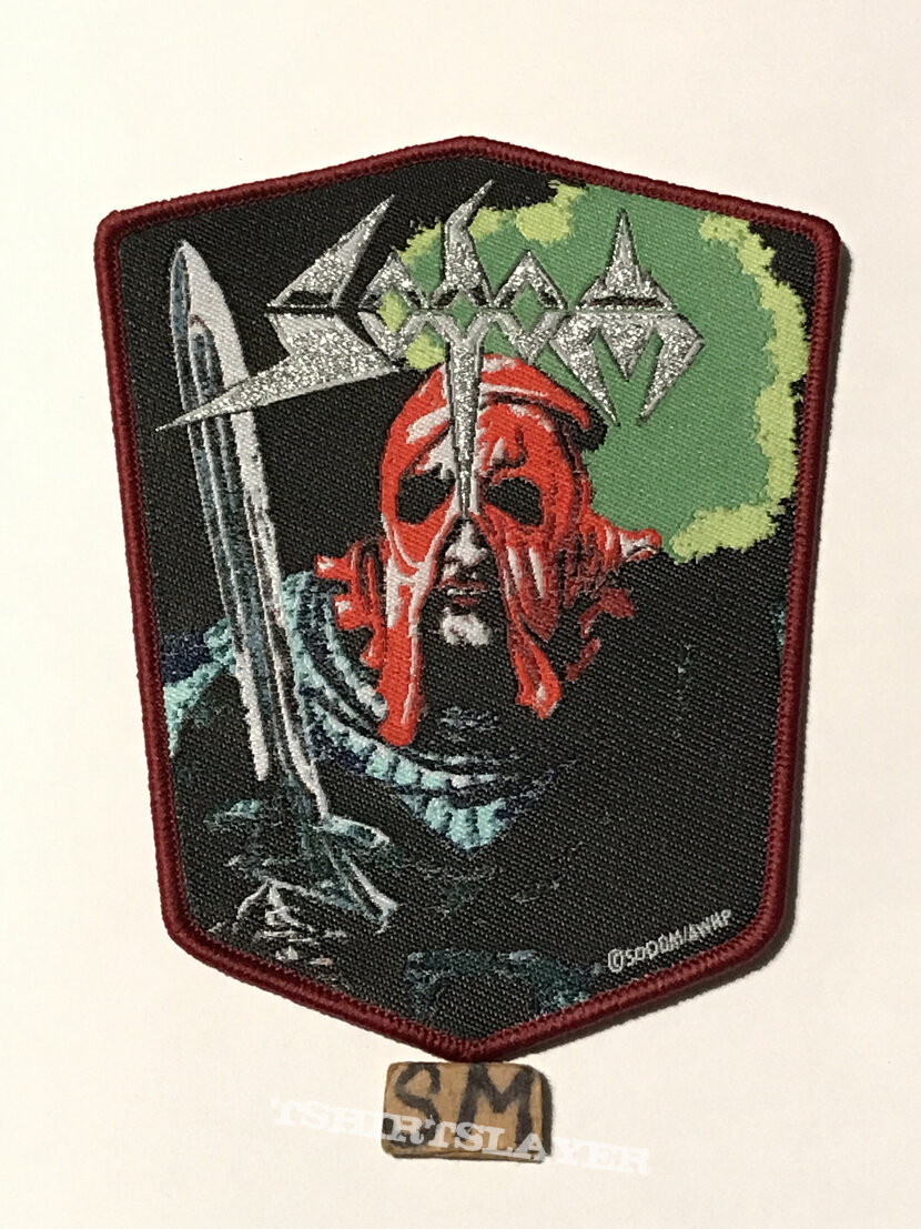 Sodom In The Sign Of Evil patch burgundy border