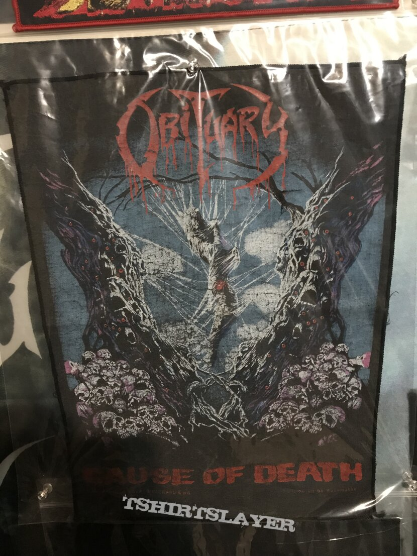Obituary Cause Of Death back patch