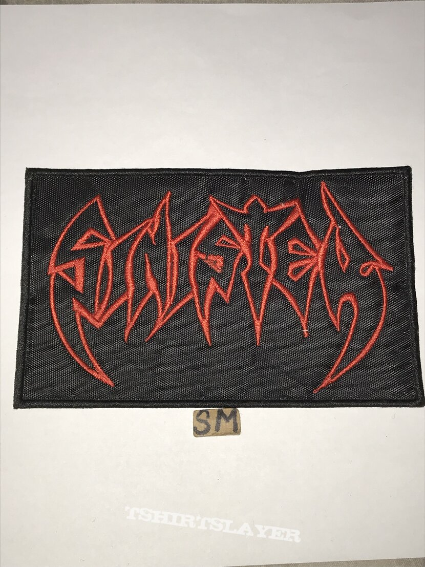 Sinister embroidered logo patch